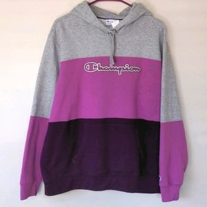 Champion Color Block Pull Over Hoodie
